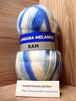 Мохеровая пряжа (100г/500м, 40%-мохер, 60%-акрил) Angora Ram Melange 721