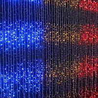 Светодиодная Гирлянда Водопад Новогодняя 300 LED 3 х 1,5 м Цвета в Ассортименте