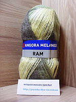 Мохеровая пряжа (100г/500м, 40%-мохер, 60%-акрил) Angora Ram Melange 724