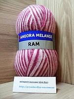 Мохеровая пряжа (100г/500м, 40%-мохер, 60%-акрил) Angora Ram Melange 722