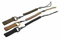 Страховочный шнур с кольцом ,комбинированный  3 цвета