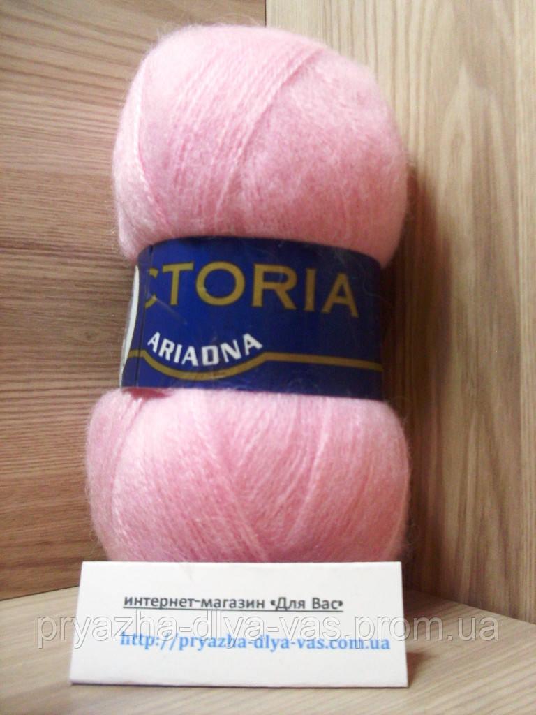 Мохеровая пряжа (35%-мохер, 65%-акрил, 100г/600м) Victoria Ariadna 3367(св.розовый)