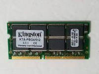 Память Kingston SDRAM 512Mb SO-DIMM PC133 133MHz ОЗУ для ноутбука (нетбука)