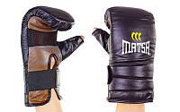 Снарядные перчатки с открытым большим пальцем Кожа MATSA MA-6011-M