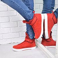 Ботинки женские Timberland Sport Зима красные