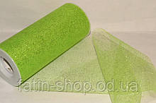 Фатин ширина 14,50см Glitter Apple Green
