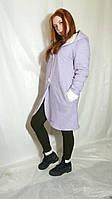 Тепленьке стильне жіноче зимове пальто прямого покрою Женское пальто