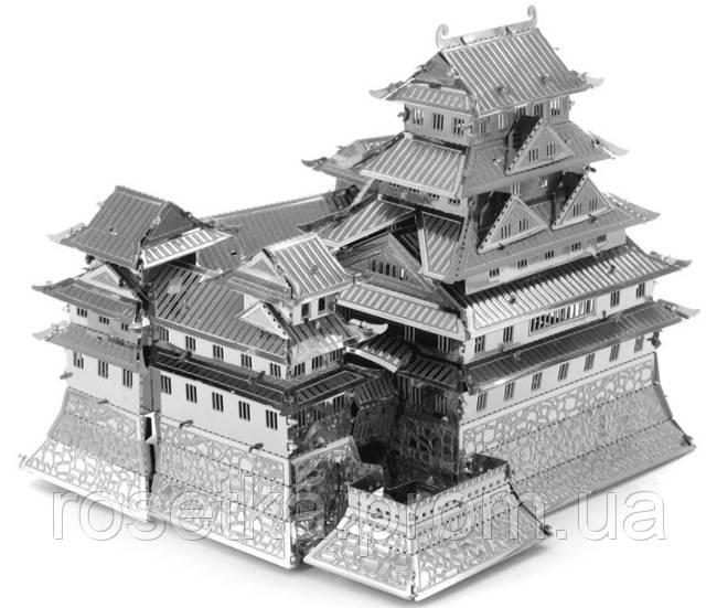 """Металева збірна 3D модель """"Замок Хімедзі"""", металевий конструктор Metallic Nano Puzzle"""