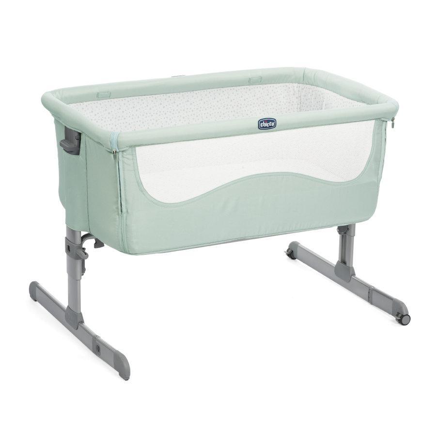Детская кроватка-люлька Chicco Next2Me New Dusty green