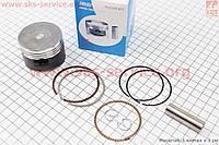 Поршень в сборе 52,4 мм STD  тефлоновое покрытие Японская технология на мопед Delta 110 сс
