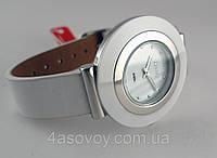Часы женские Guardo - Italy, цвет серебро, белый ремешок