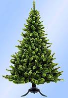 """Искусственная ель """"СКАЗКА"""" h=1,5 м зеленая с белыми кончиками с ПВХ"""