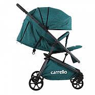Детская прогулочная коляска CARRELLO Magia CRL-10401 Green/Sea Green  + дождевик S /1/ MOQГарантия качества, фото 3