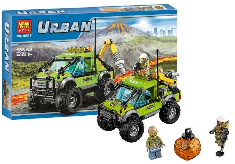 """Конструктор Bela 10638 (аналог Lego City 60121) """"Разведывательный грузовик исследователей вулканов"""", 185 дет"""
