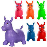 Прыгуны-лошадки из ПВХ, MS 0737, вес 1,25кг, 6 цветов, надувная игрушка тренажер