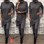 Женский стильный костюм из люрексовой ангоры: свободный удлиненный свитер и лосины (3 цвета), фото 2