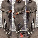 Женский стильный костюм из люрексовой ангоры: свободный удлиненный свитер и лосины (3 цвета), фото 3