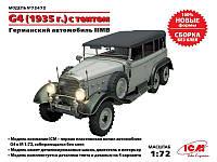 Германский автомобиль G4 с тентом (производства 1935 г.), ІІ МВ