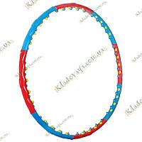 Hula hoop, Double Grace Magnetic JS-6003, Массажный антицеллюлитный обруч, хула-хуп (2 ряда воздухо-магнитный), фото 1