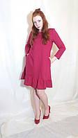 Платье женское вишневое из двухнитки и в других цветах Сукня жіноча міні чорна