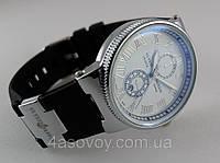 Женские часы - Ulysse Nardin - Le Locle на белом каучуковом ремешке, цвет корпуса серебро, черный ремешок, фото 1