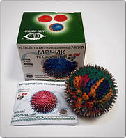 Аппликатор Ляпко Мячик игольчатый 4,0 Ag, 55 мм (точечный массаж, кровообращение, остеохондроз, снимает боль)