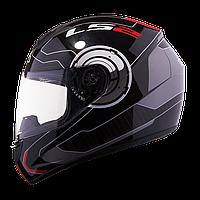 Шлем (интеграл) LS2 FF351 ATMOS белый/красный глянцевый