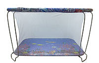 """Манеж детский игровой """"KinderBox""""(аквариум синий) с мелкой сеточкой"""