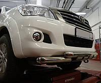 Кенгурятник Shark на Toyota Hilux (2004-2015) Can Otomotiv d76\76 mm