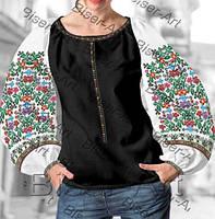 722159593cb6bf Заготовка для вишивки жіночої сорочки бохо В-64 на габардині