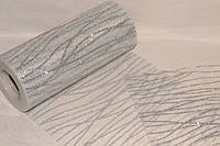 Фатин ширина 14,50см Glitter Wavy Silver