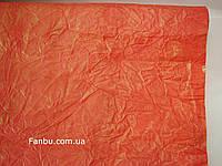 Ярко красная жатая бумага с золотым напылением  (лист50см* 70 см)