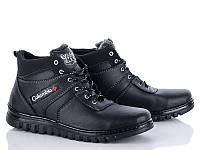 Зимние ботинки черного цвета эко кожа реплика Columbia Коламбия
