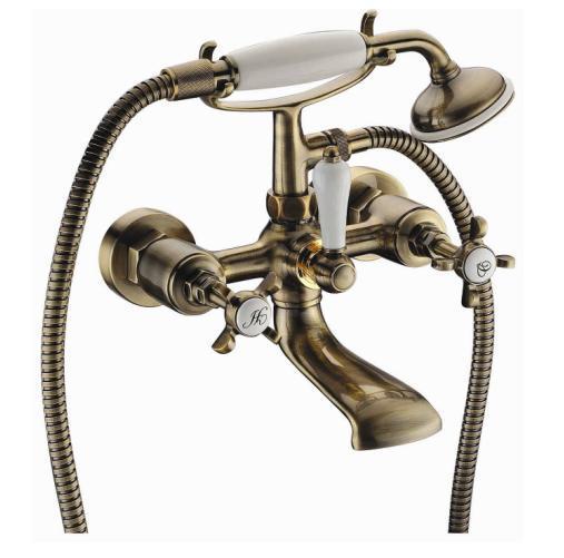 CUTHNA antiqua двохвентильний змішувач для ванни, бронза