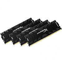 Оперативная память для компьютера 4Gb x 4 (16Gb Kit) DDR4, 3000 MHz, Kingston HyperX Predator, 15-17-17, 1.35V, с радиатором (HX430C15PB3K4/16)