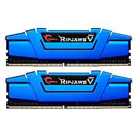 Оперативная память для компьютера 8Gb x 2 (16Gb Kit) DDR4, 2666 MHz, G.Skill Ripjaws V, 15-15-15-35, 1.2V, с радиатором (F4-2666C15D-16GVB)