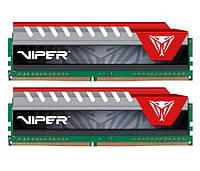 Оперативная память для компьютера 8Gb x 2 (16Gb Kit) DDR4, 2800 MHz, Patriot Viper Elite Series Red, 16-18-18-36, 1.25V, с радиатором