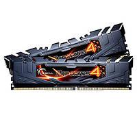 Оперативная память для компьютера 8Gb x 2 (16Gb Kit) DDR4, 3000 MHz, G.Skill Ripjaws 4, 15-15-15-35, 1.35V, с радиатором (F4-3000C15D-16GRK)
