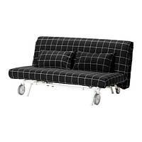 Чехол на 2-местный диван-кровать из ткани, цвет черный