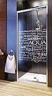 Душевая дверь Aquaform Nigra прозрачная AQUA 90х185