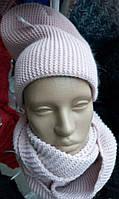 Комплект вязаная шапка и шарф
