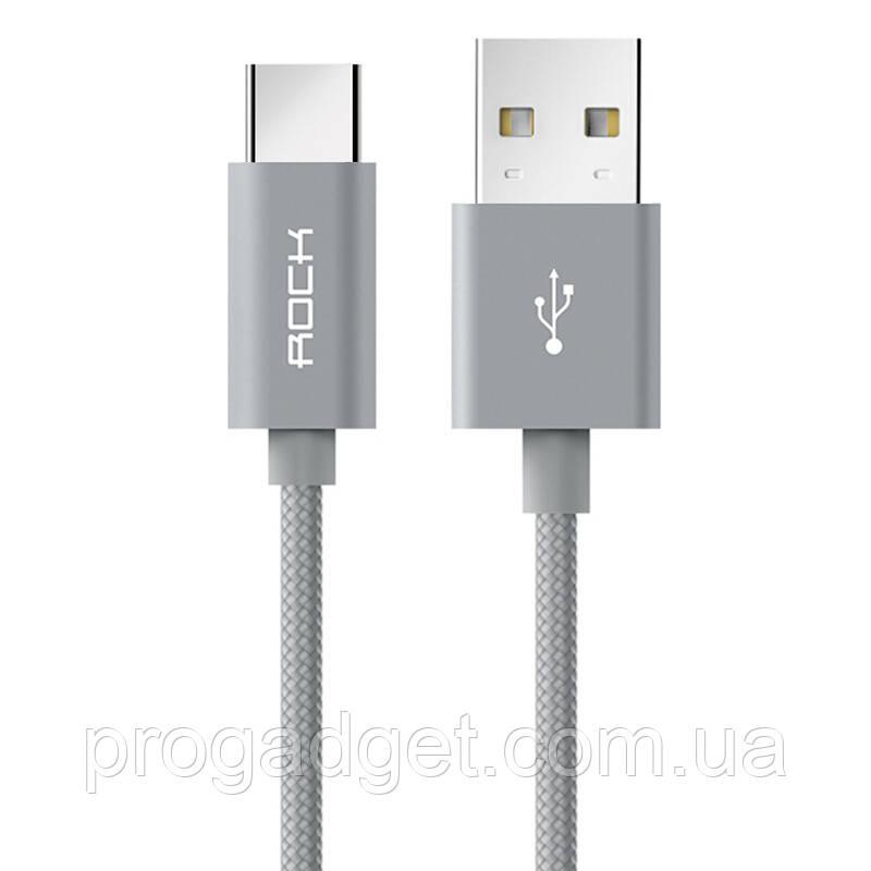ROCK C2-type data cable 1 м кабель USB-USB type C, серый, золотой, розовый
