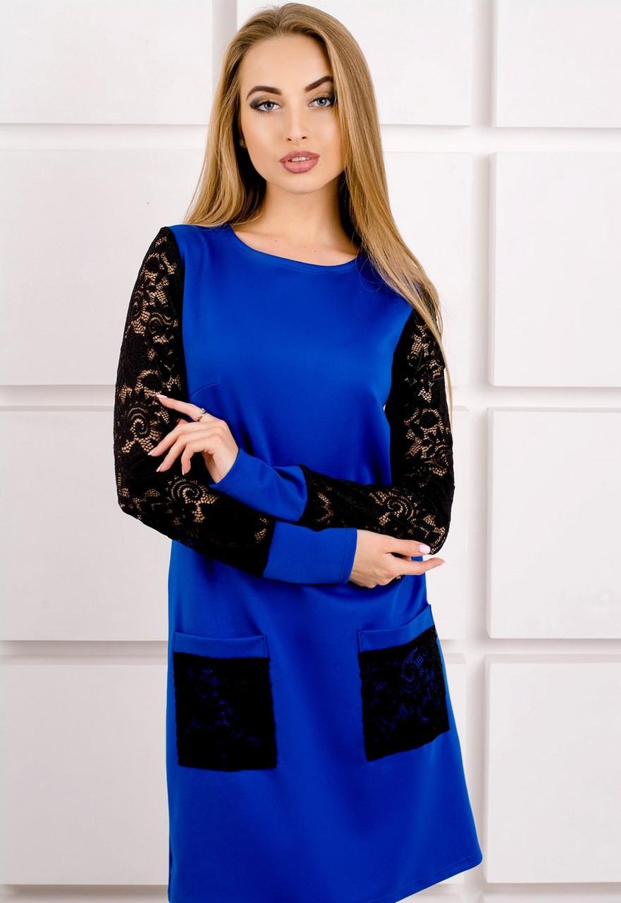 Молодежное платье с карманами (3 цвета)