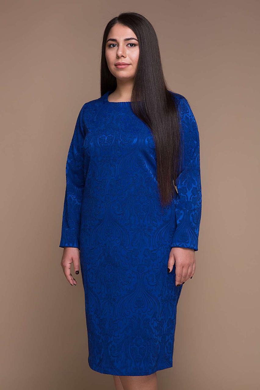 Элегантное платье из жаккарда с 54 по 60 размер