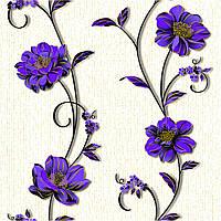 Обои бумажные Деми 1267 бело-фиолетовый
