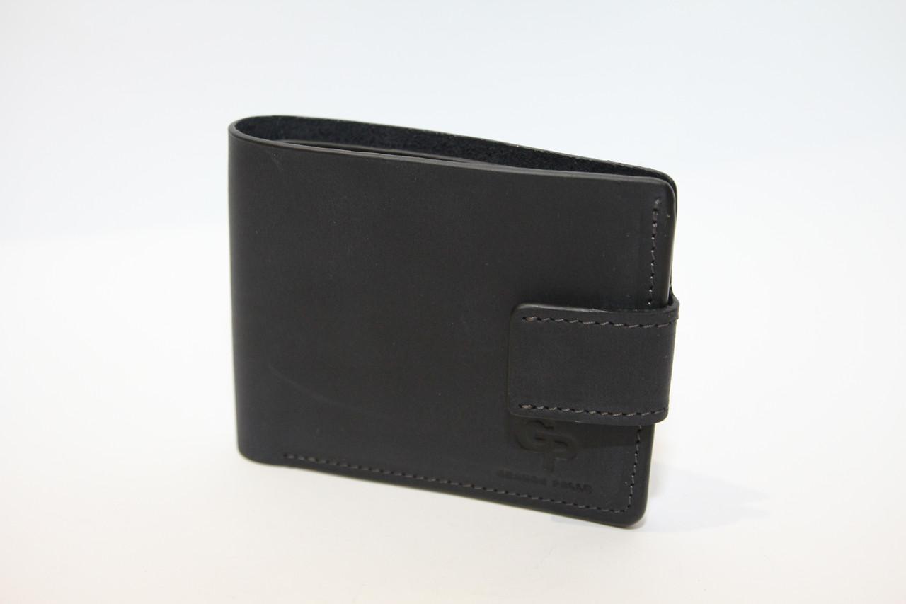 Темно-синий  кожаный кошелек Grande Pelle (10165)