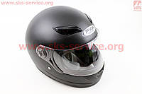Шлем  интеграл черный матовый  размер М 57- 58 см