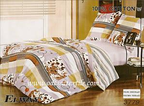 Комплект постільної білизни полуторний Elway 3779 сатин