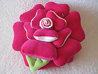 Декоративная подушка роза ручной работы