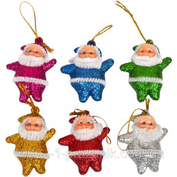 Набор Дед Мороз цветной 6 см 6 шт